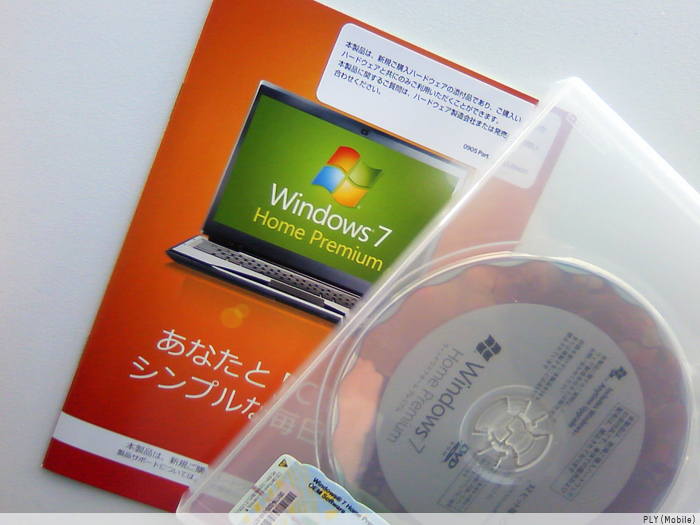Windows7。