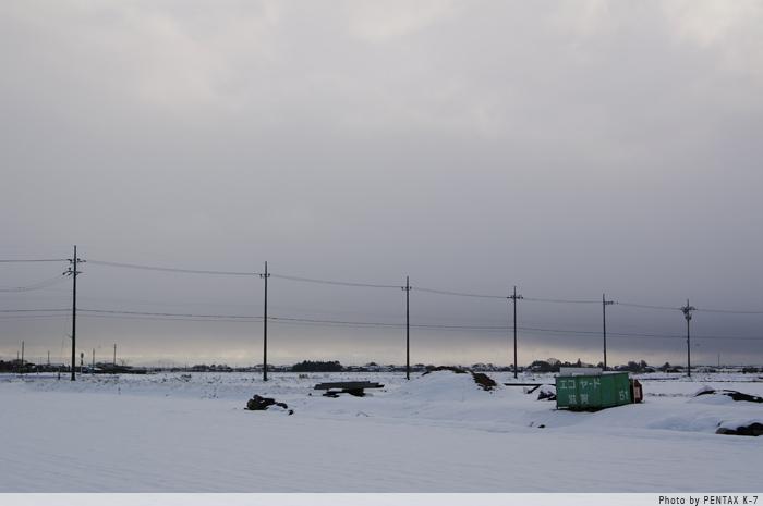 雪の長浜。