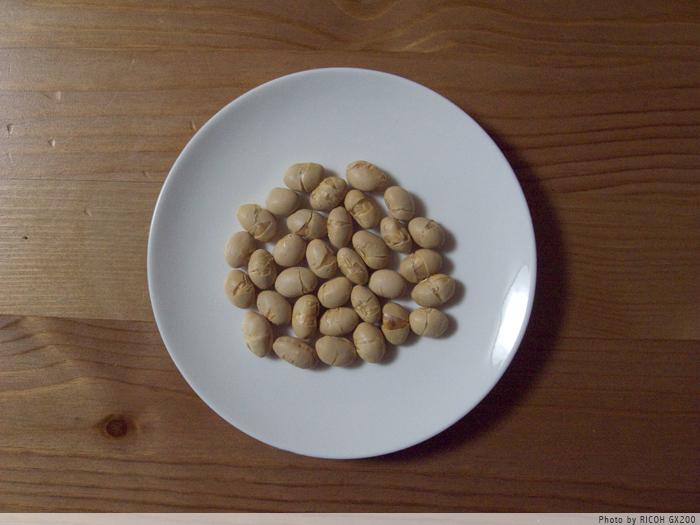 33粒の豆。