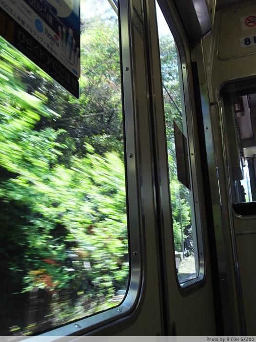 京阪の車窓から。