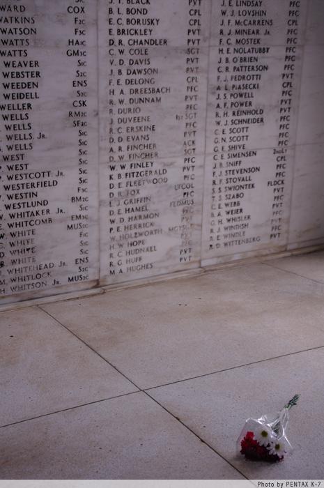 アリゾナ記念館内。