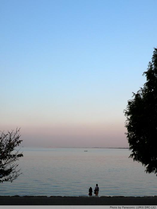琵琶湖を遠く眺めて。
